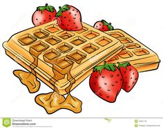 Brunch clipart waffle. Waffles drenched in syrup