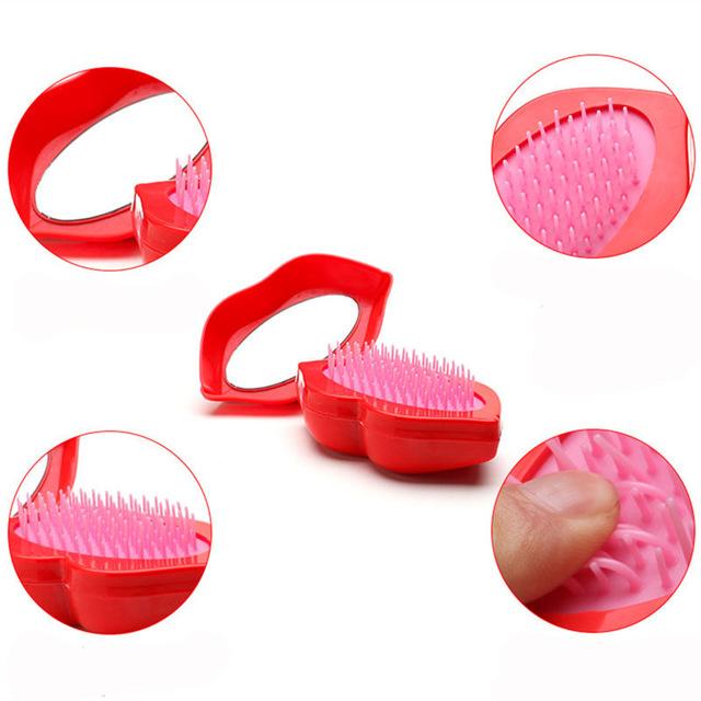Fashion lip hair comb. Brush clipart anti static