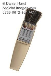 Containing polonium . Brush clipart anti static