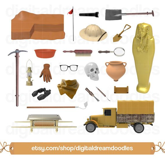 Brush clipart archaeology. History clip art egypt