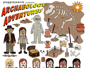 Etsy adventures. Brush clipart archaeology