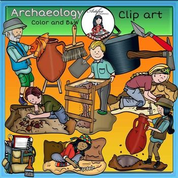 best science clip. Brush clipart archaeology