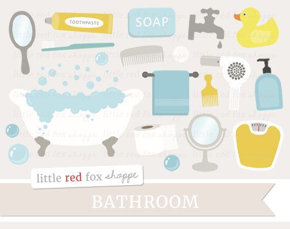 Bath time clip art. Brush clipart bathroom