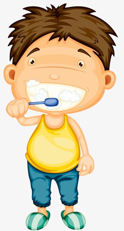 Brushing wash teeth png. Brush clipart boy