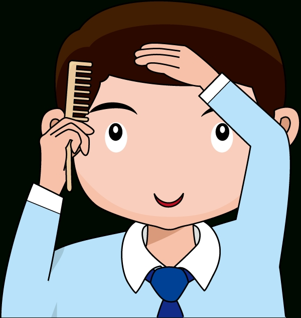 Brush clipart boy. Brushing hair letters your