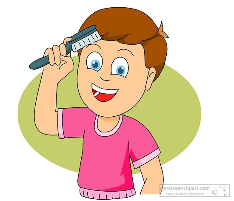 Hair cilpart stylist design. Brush clipart boy