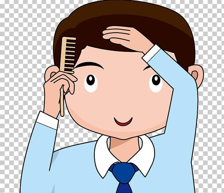 Comb clipart child brushing hair. Brush png boy brown