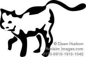 Illustration of a cute. Brush clipart cat