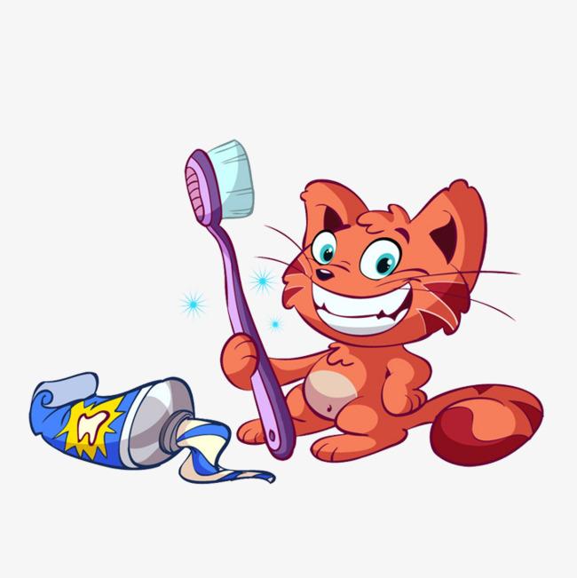 Love the white animation. Brush clipart cat