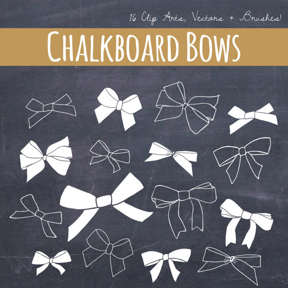 Brush clipart chalkboard. Clip art bows ribbons