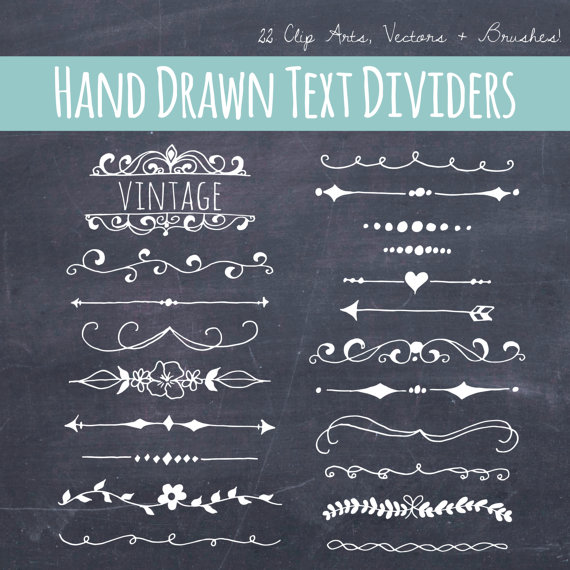 Clip art text dividers. Brush clipart chalkboard