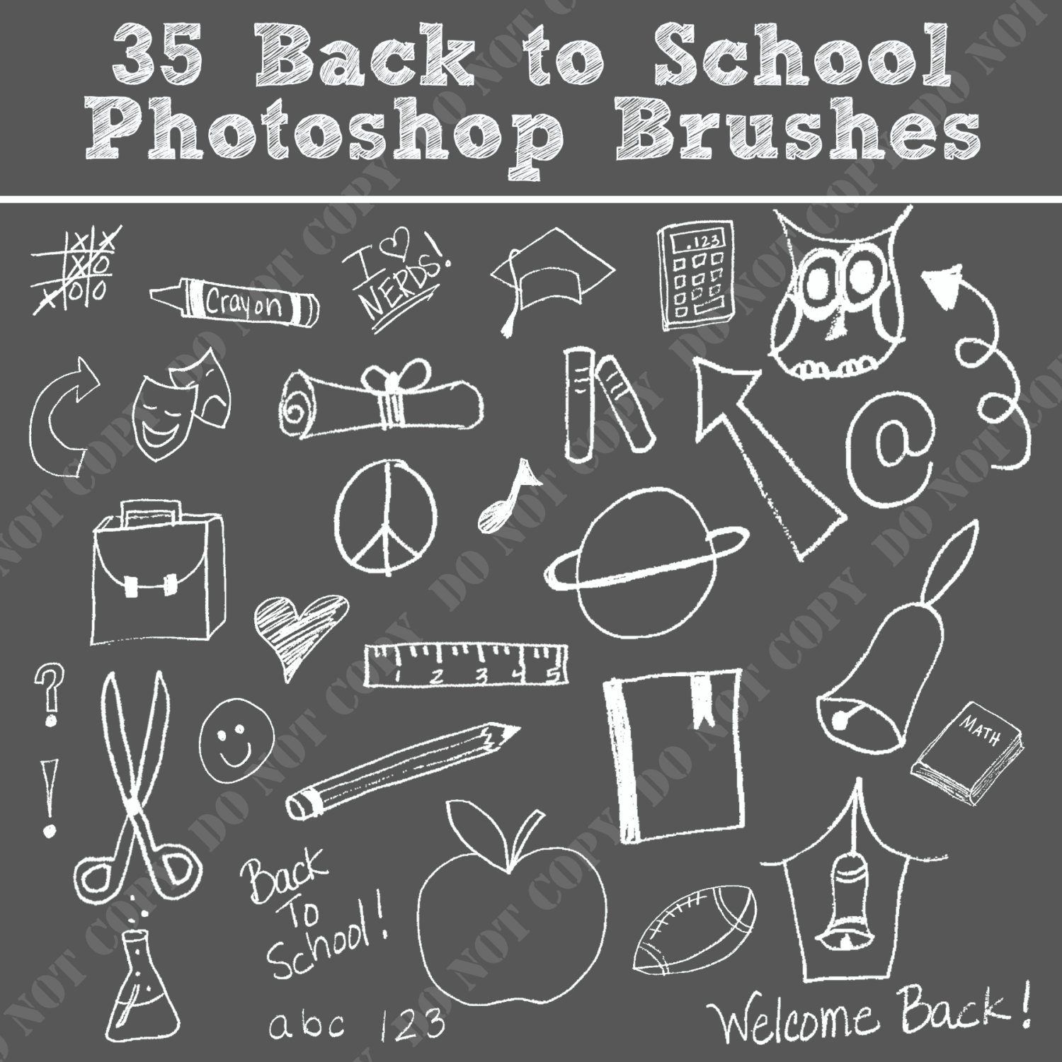 back to school. Brush clipart chalkboard