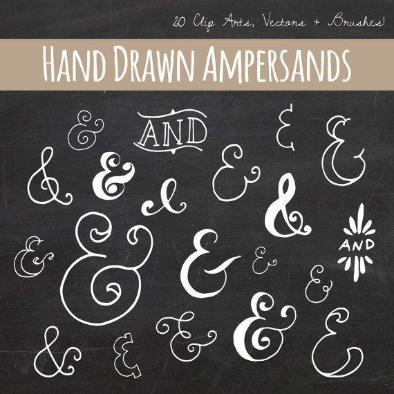 Ampersand clip art plus. Brush clipart chalkboard
