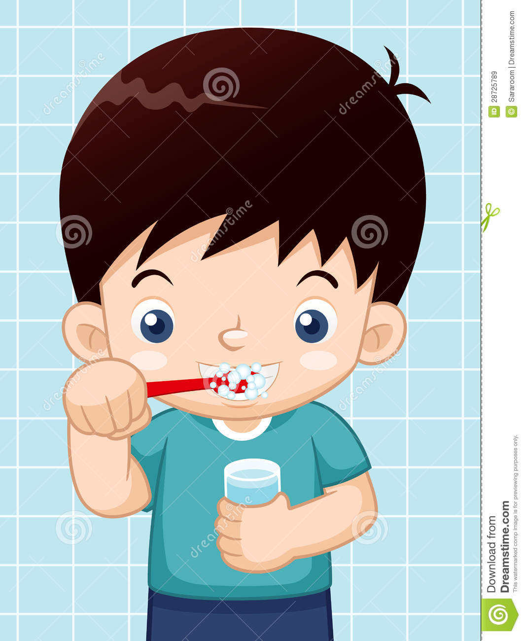 Brush clipart child.  collection of boy