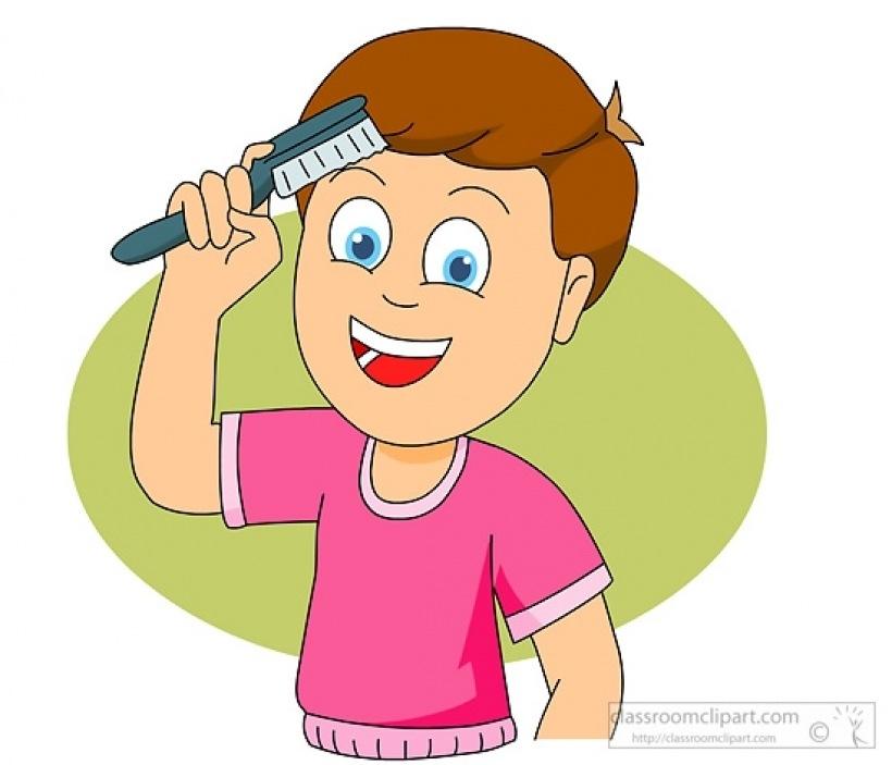 Hair clip art kids. Brush clipart child