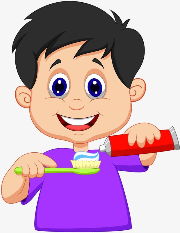 Brush clipart child. Children their teeth toothpaste