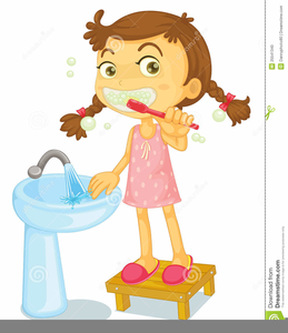 Free images at clker. Comb clipart child brushing hair