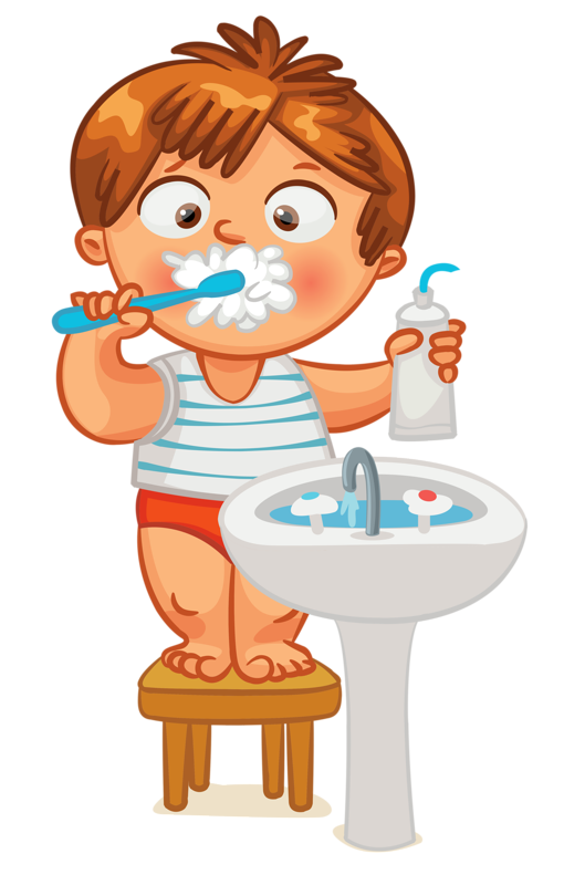 Clip art kid brush. Schedule clipart children's