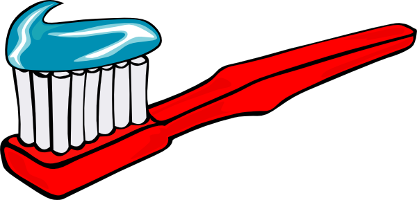 Toothbrush with toothpaste at. Brush clipart clip art
