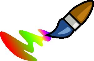 Brush clipart coloring. Color cartoon clip art