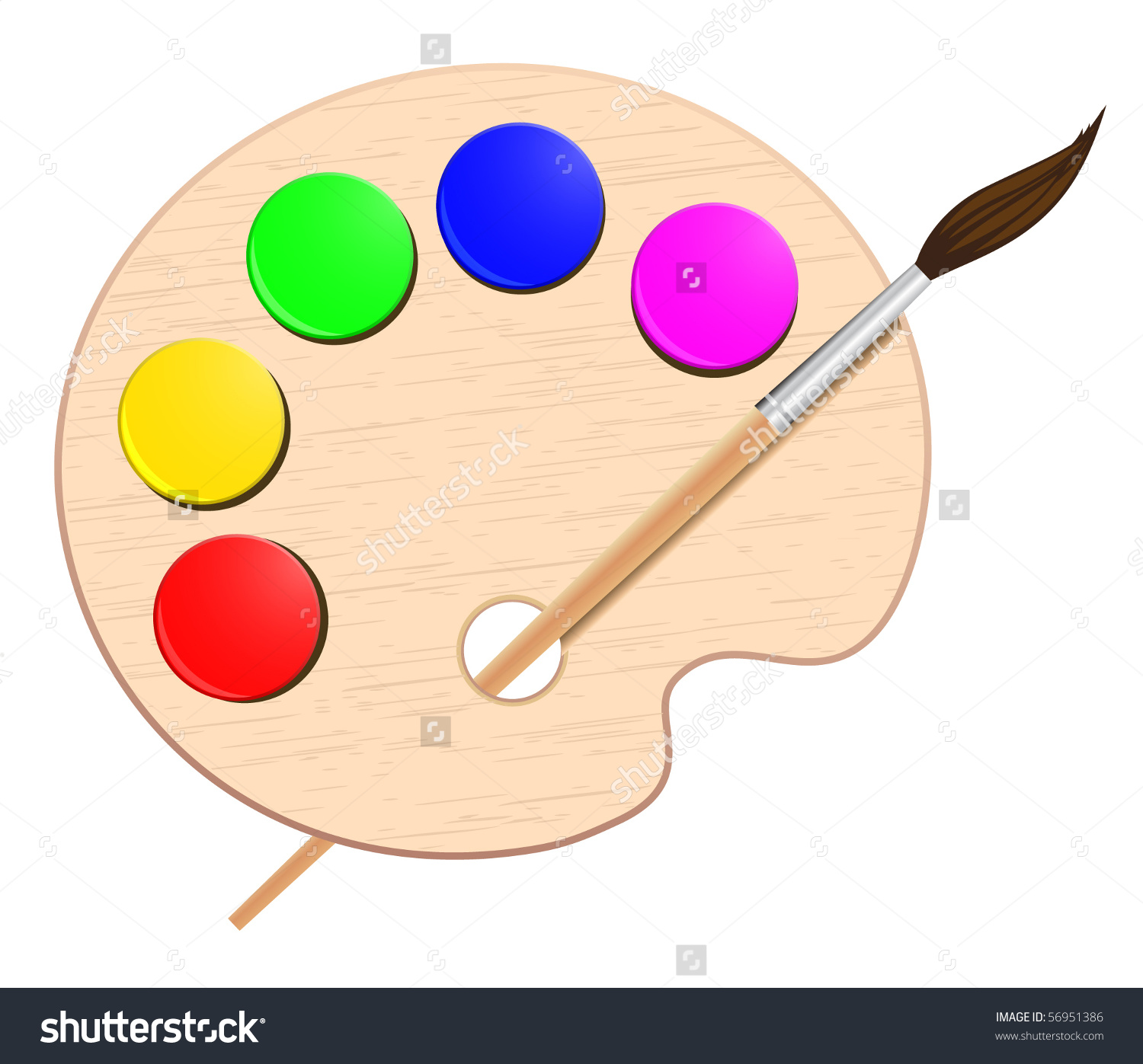 Palette pencil and in. Brush clipart colour