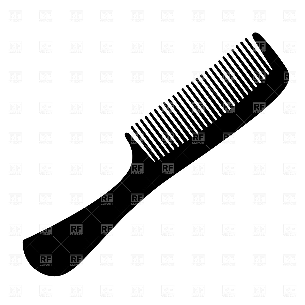 Brush clipart combs. Hair silhouette at getdrawings