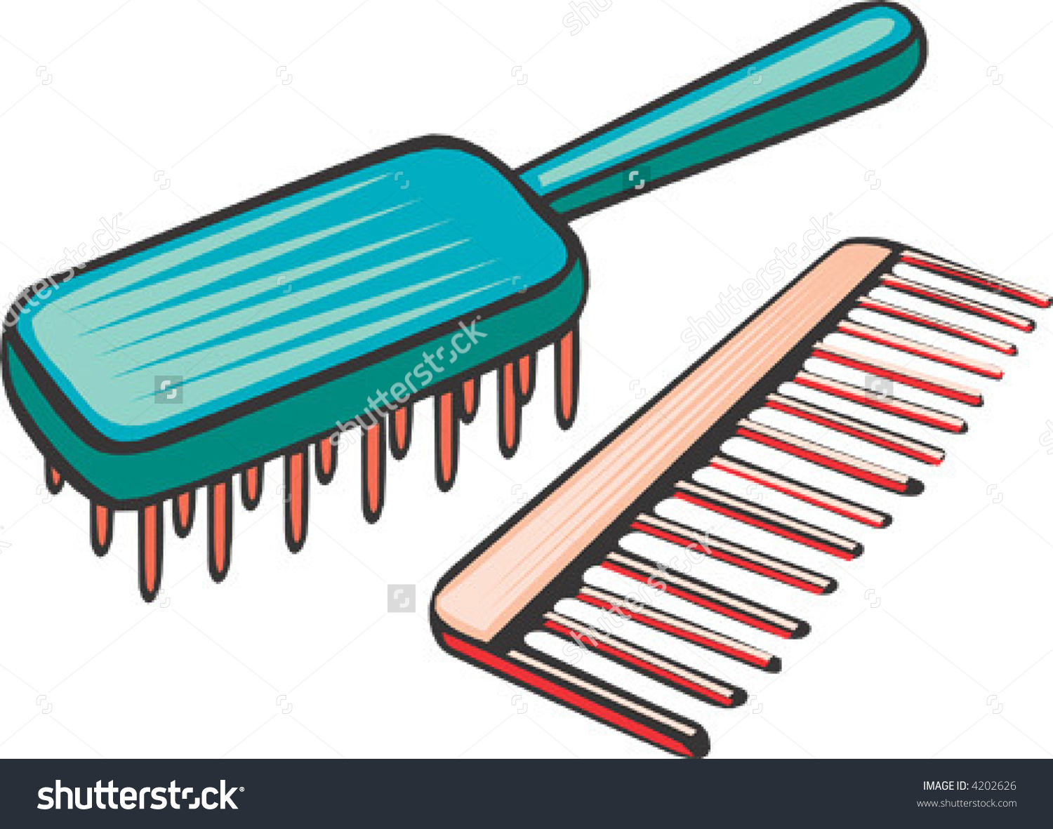 Brush clipart combs. Hair and comb clip