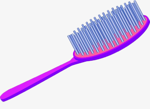 Vector painted comb hand. Brush clipart combs