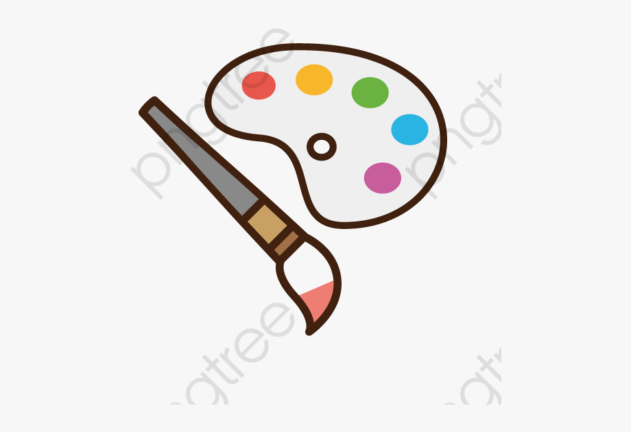 Paint png transparent cartoon. Brush clipart cute