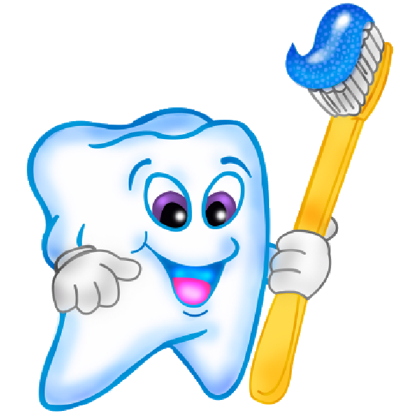 Funny cartoon teeth with. Brush clipart cute