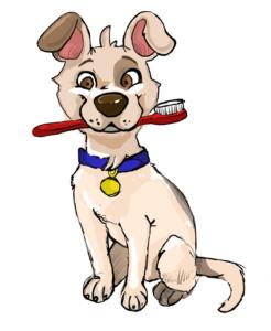 Bad breath the best. Brush clipart dog brush