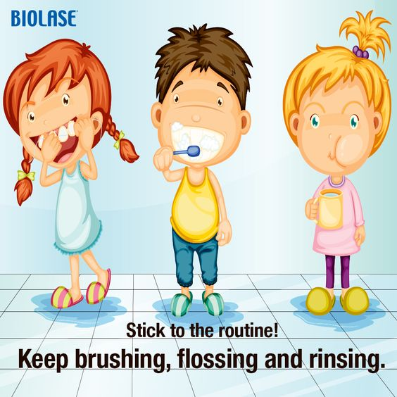 Importance of brushing and. Brush clipart floss