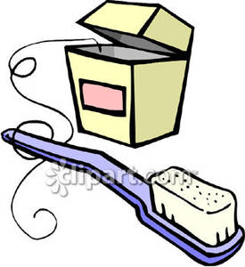 And . Brush clipart floss