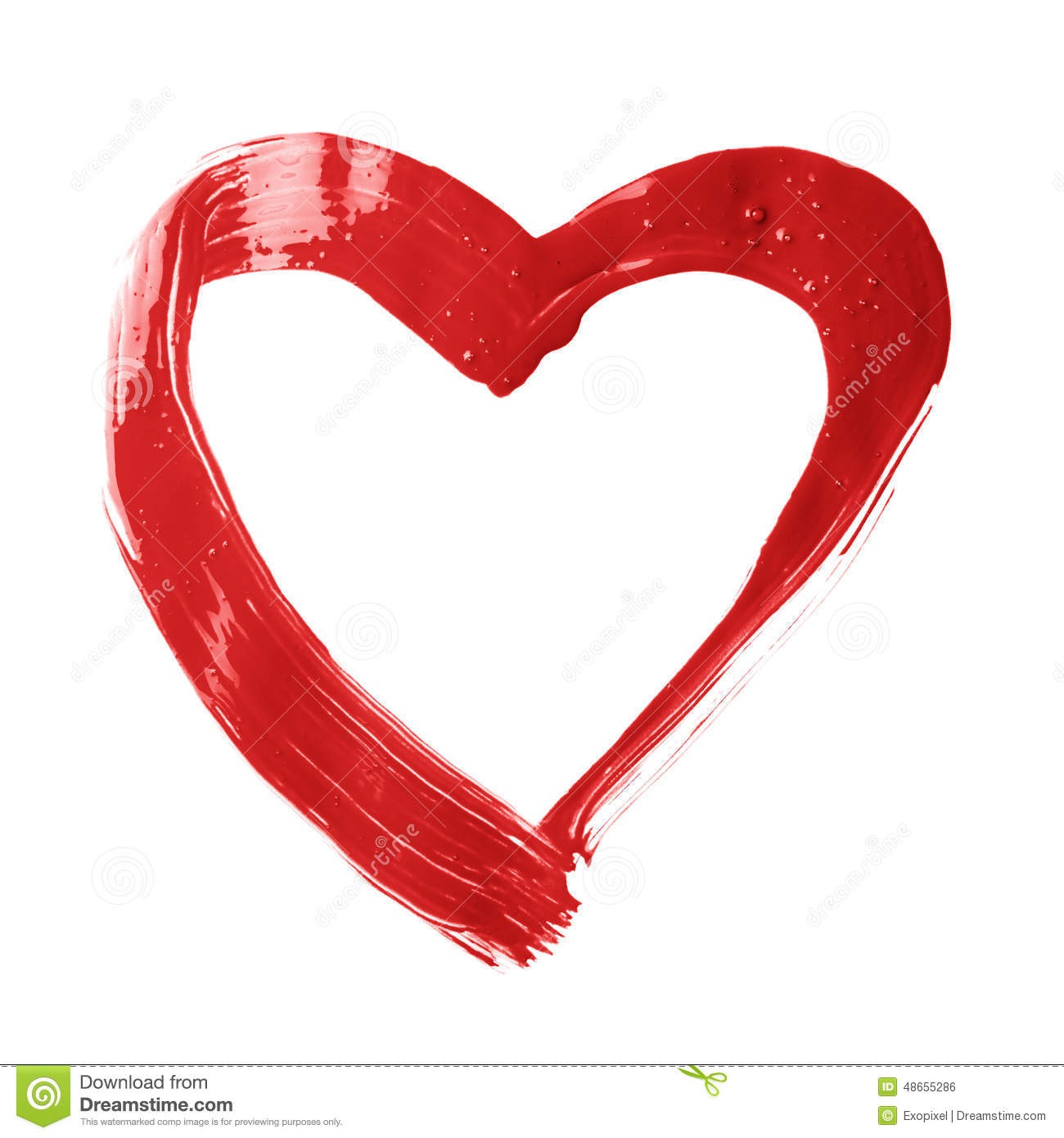 Brush clipart heart. Stroke pencil and in
