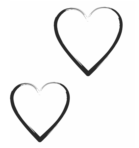 Creating a valentine s. Brush clipart heart