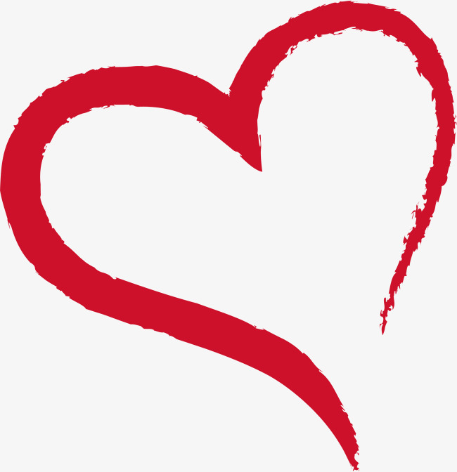 Ink red png and. Brush clipart heart