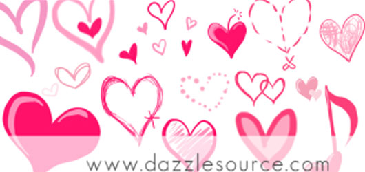 Brush clipart heart.  free photoshop sets