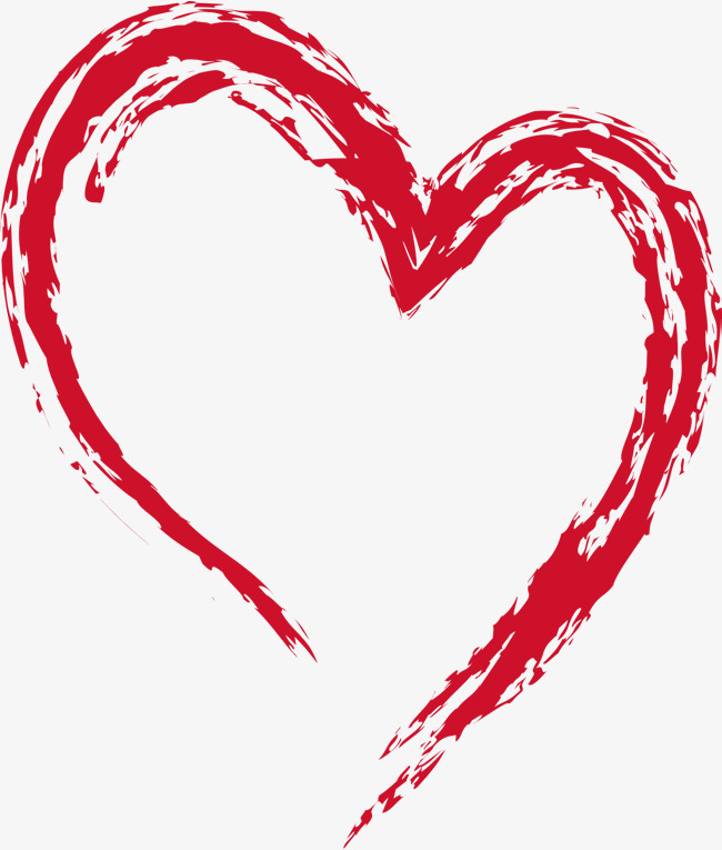 Brush clipart heart. Ink gules png and