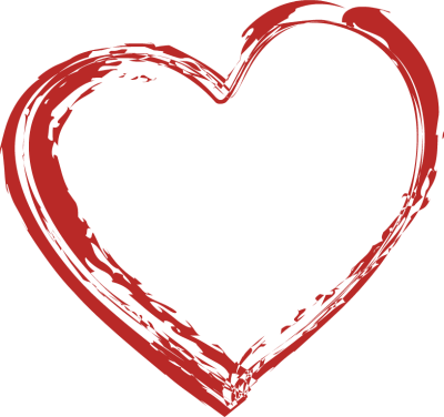 Pencil and in color. Brush clipart heart
