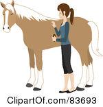 Brush clipart horse. Groomer