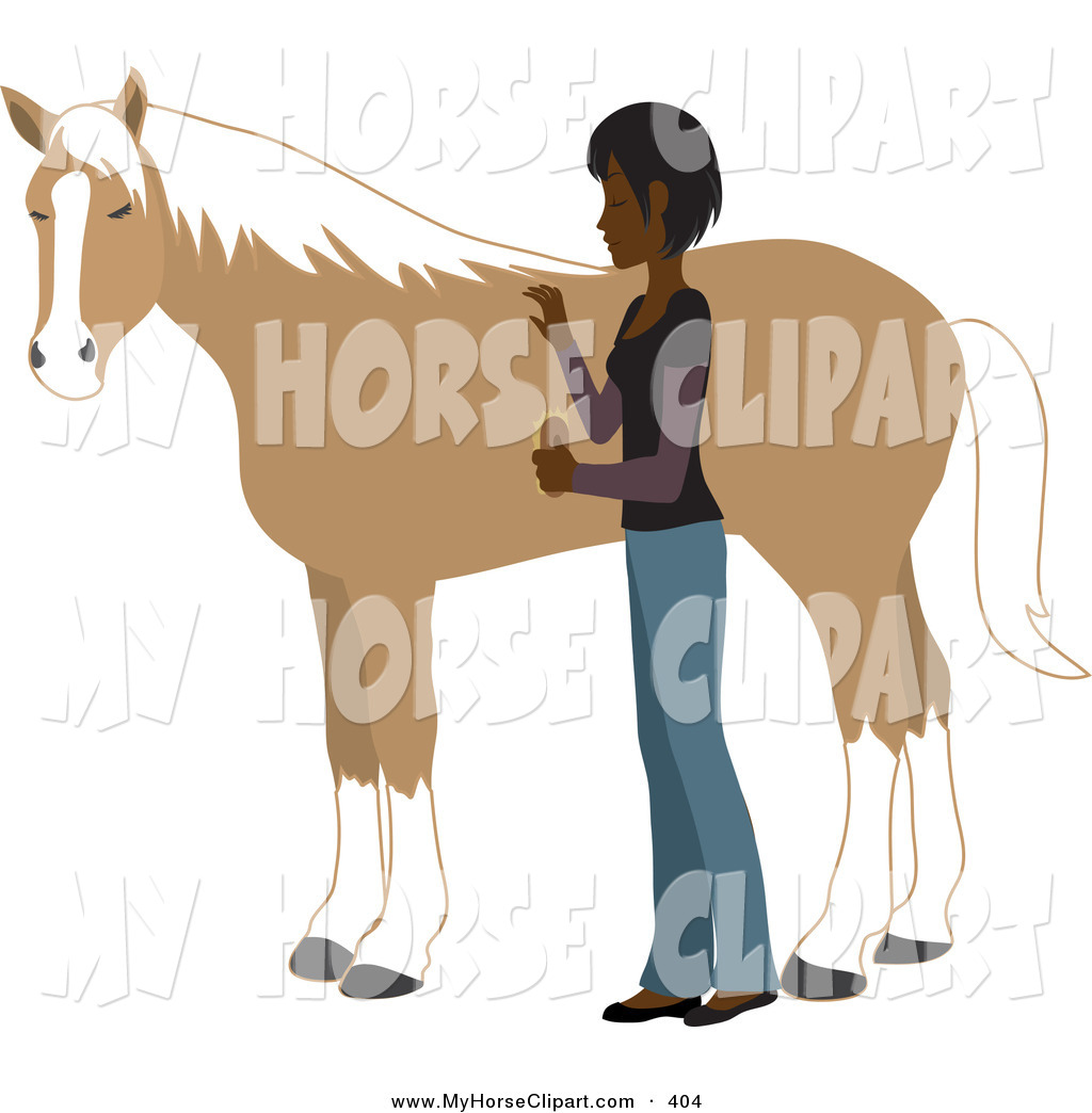 Brush clipart horse. Horses page young indian