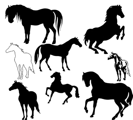 Brush clipart horse. Paint silhouette at getdrawings