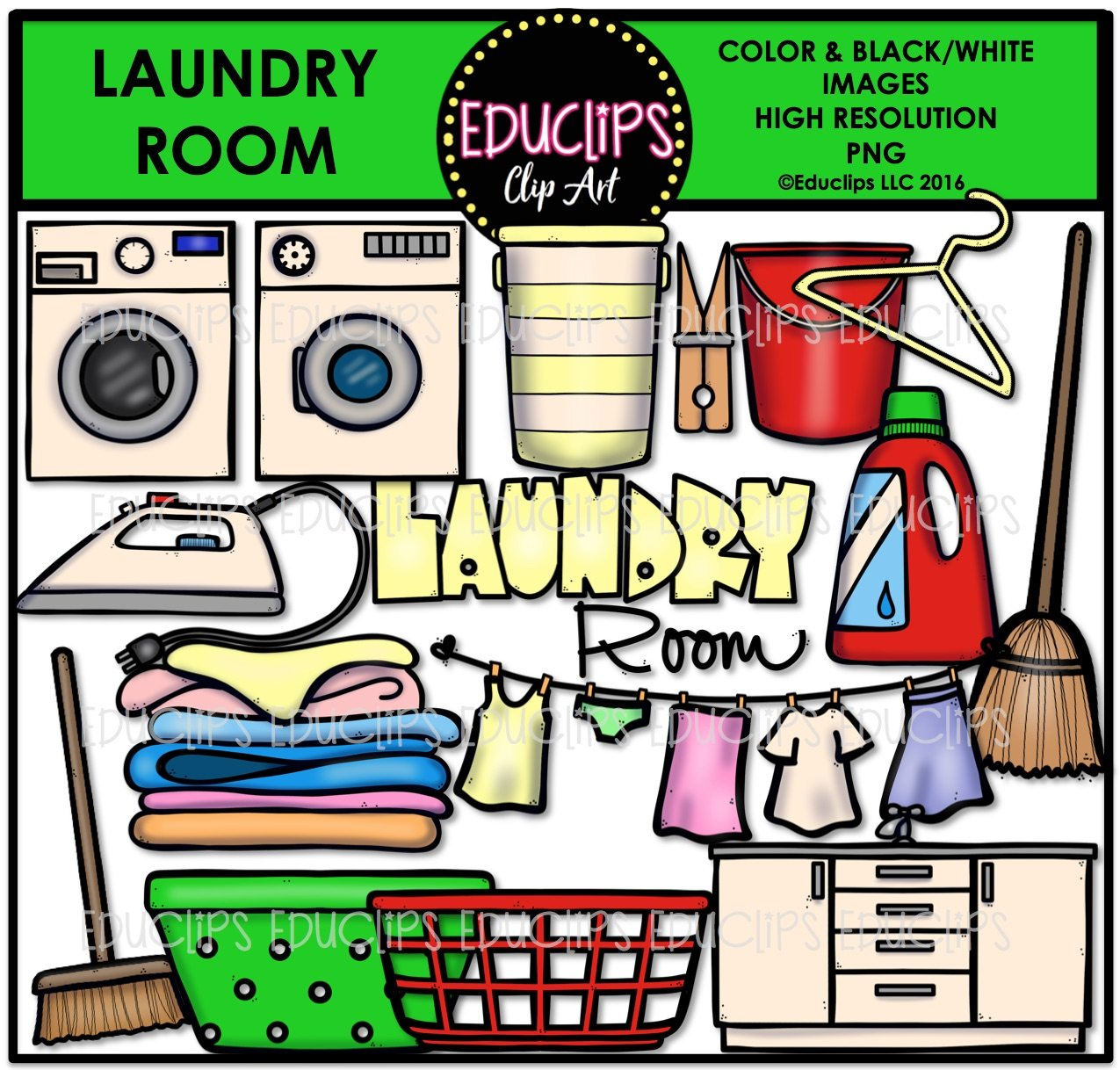 Brush clipart laundry. Parts of a house