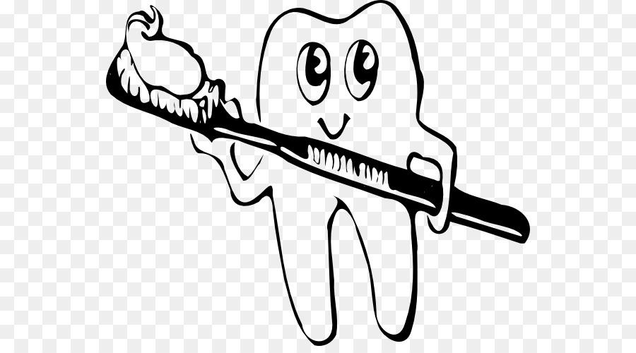 Human tooth brushing clip. Brush clipart line art