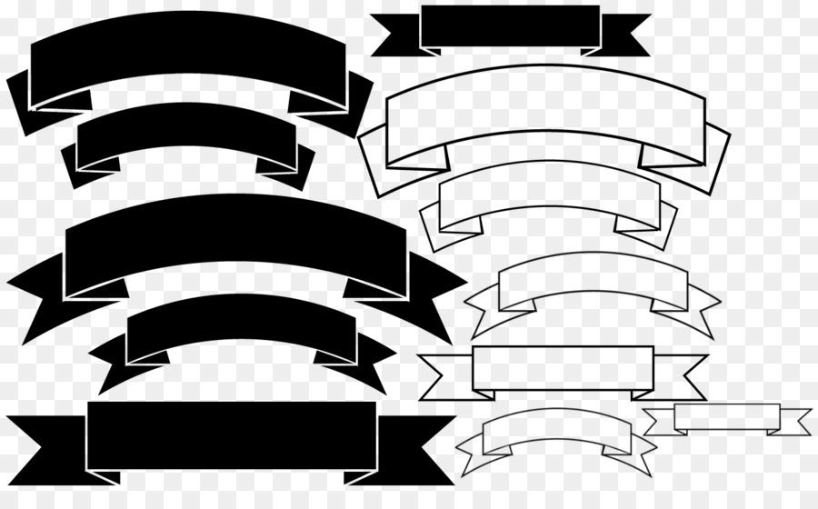 Clip banner ribbon png. Brush clipart line art