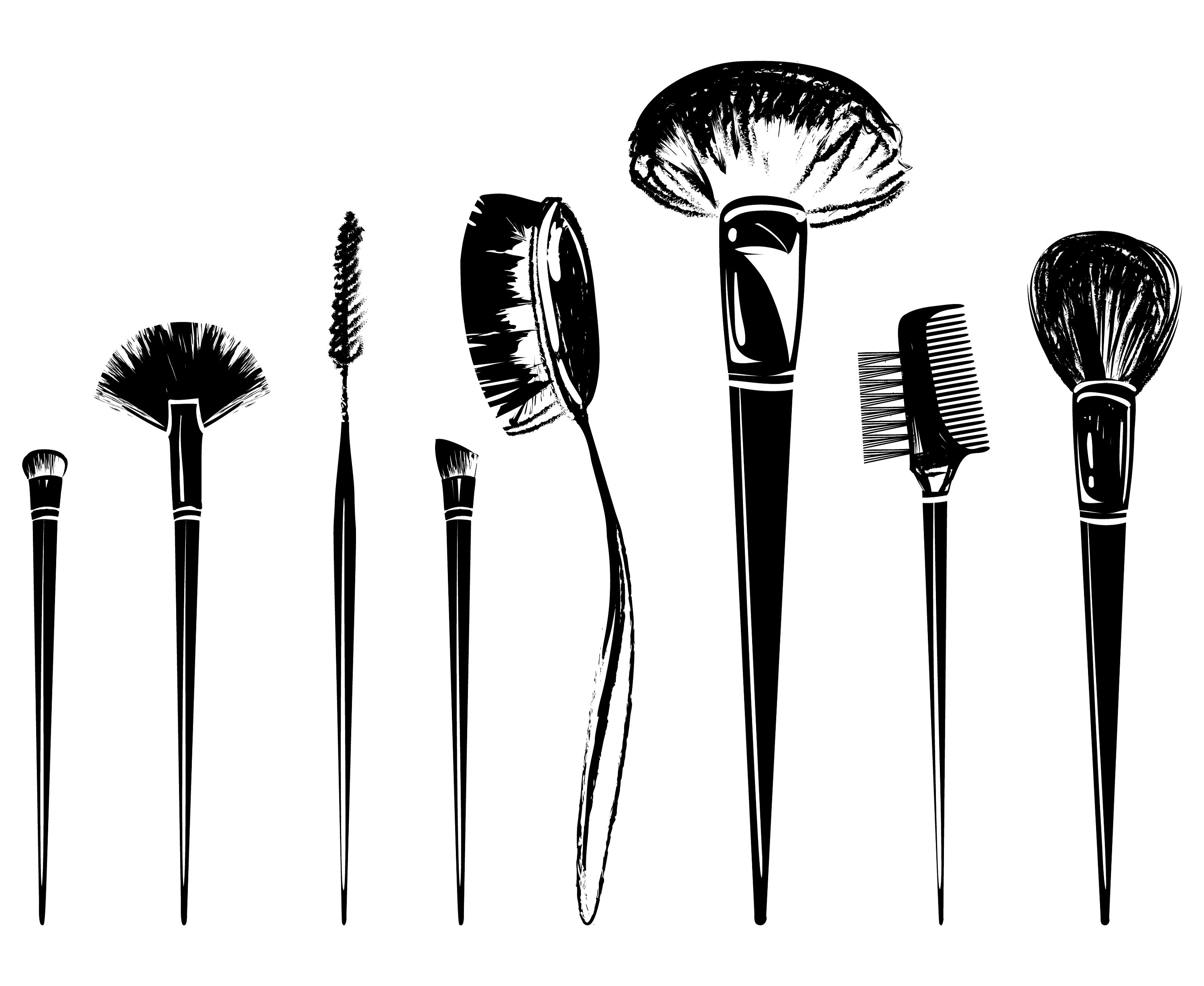 Brush clipart makeup. Make up svg brushes