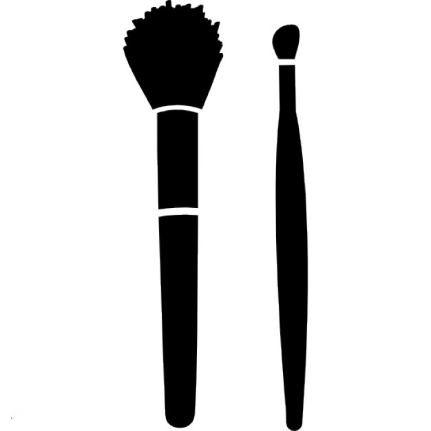 Brush clipart makeup. Brushes unique make up