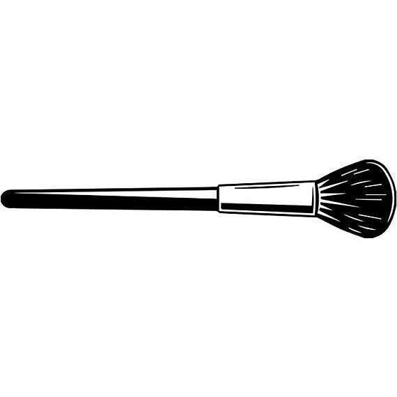 Make up tool artist. Brush clipart makeup