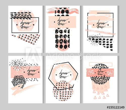 Brush clipart minimalist. Hand drawn vector abstract