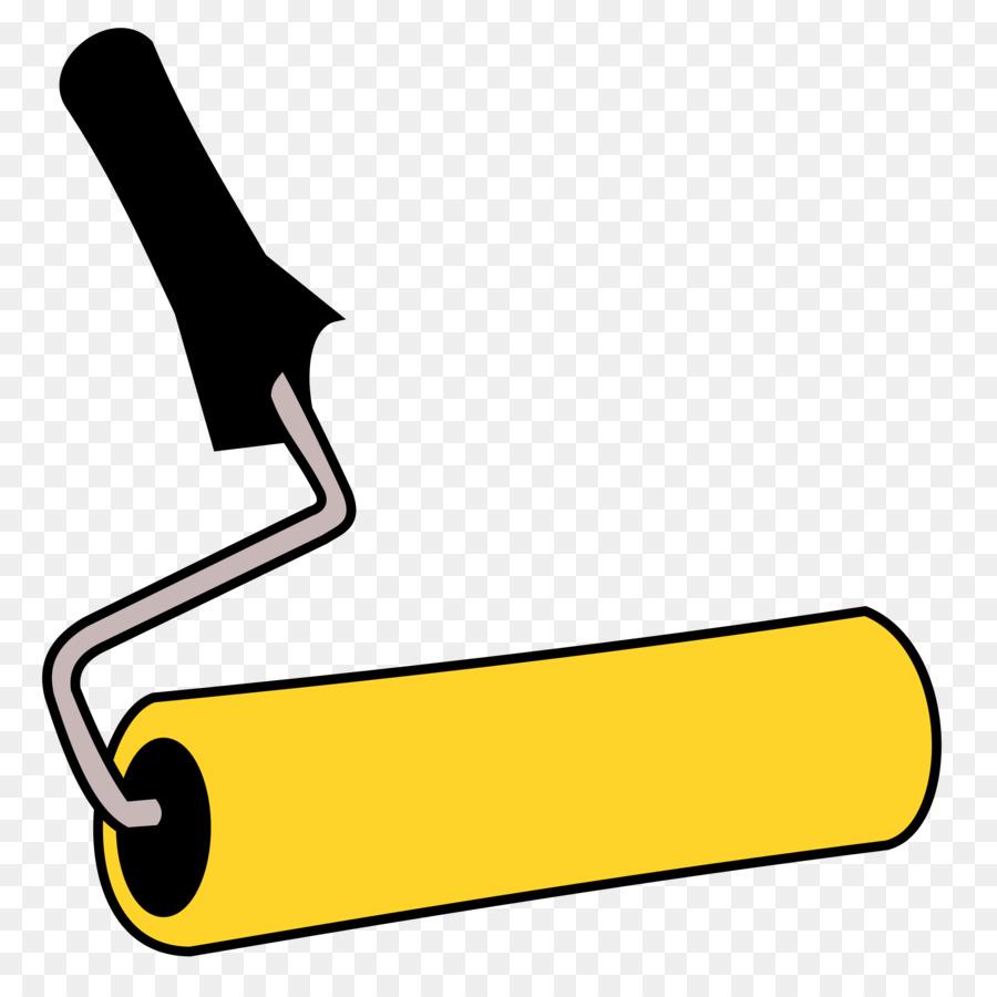 Brush cartoon drawing . Paintbrush clipart paint roller